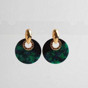 Henri Bendel Color Resin Round Earrings